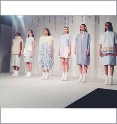 shristi rai uca rochester innovative knitwear graduate fashion week 2014
