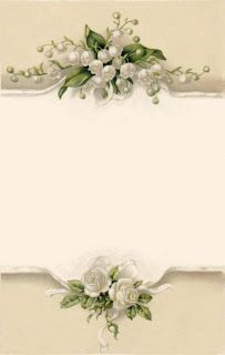 lily of the valley bumble button: antique postcards