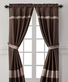 Take a look at this Chocolate & Taupe Soriano Curtain Panel - Set of Two by Victoria Classics on #zulily today!