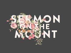 Sermon On the Mount Title Design in Typography