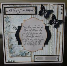 Konfirmasjonskort, jente! #piondesign #KortogGodt #northstarstamps Diy Crafts, Frame, Cards, Decor, Picture Frame, Decoration, Make Your Own, Homemade, Maps