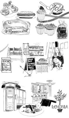 Illustrations for One Fine Stay's 'Guestbook' by Emily Robertson