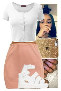 by theyknowtyy on Polyvore featuring polyvore, fashion, style, Doublju, Dr. Martens and clothing