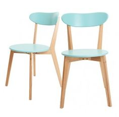 Set of 2 - Oslo Dining Chair - Turquoise