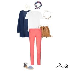 "8382d71a061 Get Your Pretty On on Instagram  ""Double tap if you ❤ this  ootd! Try this  easy spring  outfitformula - Navy Cardigan + White Tee + Bright Jeans +  Denim ..."
