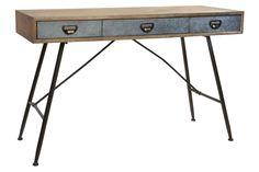 Console d'entrée de style industriel kotecaz  #entrée #maison #styleindustriel Console Table, Decoration, Office Desk, Entryway Tables, Furniture, Home Decor, Industrial Style, Objects, Decor