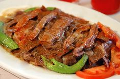 We came now to one of my favorite Turkish food. Personally, I love İskender Kebab so much. The Top Turksish Food: Turkish Recipes, Italian Recipes, Pork Chop Recipes, Meat Recipes, Turkish Kebab, Tasty, Yummy Food, Fresh Fruits And Vegetables, Iftar