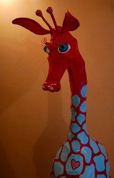 Girafe - sculpture papier-mâche Liliana Anic