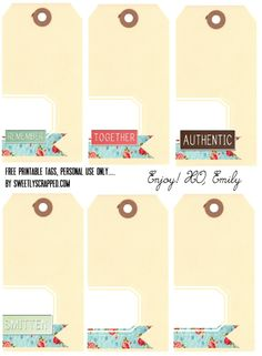 Sweetly Scrapped: Free Printable Shipping Tags with Words and Plain #printables