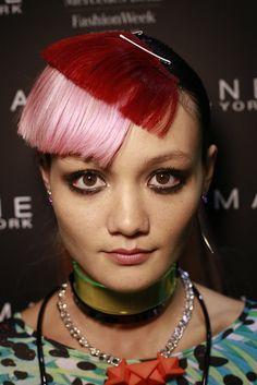 Backstage with ghd at Emma Mulholland 2013 Australian Fashion Week - hair by Alan White using amazing stencilled extensions