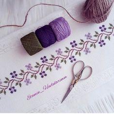 Cross Stitch Borders, Cross Stitch Designs, Cross Stitching, Weaving Patterns, Baby Knitting Patterns, Crewel Embroidery, Embroidery Designs, Canadian Smocking, Embroidered Bag