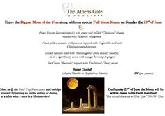 Enjoy our Full Moon Offer on the 23rd of June at The Athens Gate Roof Top Restaurant!