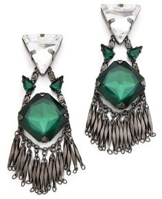 Erickson beamon Sporty Forties Earrings $420.00 thestylecure.com