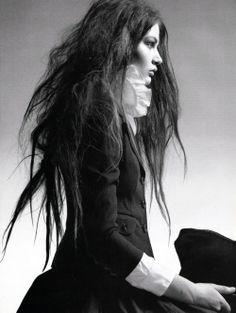"""""""Black Russian"""": Viktoria Sekrier photographed by Steven Meisel for Vogue Italia, April 2005"""