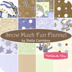 Snow Much Fun Flannel Fat Quarter Bundle Shelly Comiskey for Henry Glass Fabrics - Christmas Cloth Store