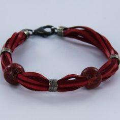 Cars, Bracelets, Leather, Jewelry, Fashion, Red Leather, Leather Bracers, Fashion Bracelets, Silver Bracelets