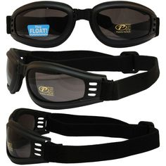 673c31529ed Nomad Value Riding Folding Goggles with Black Frame and Smoke Lens