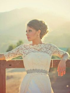 Gown by Jaime Elyse Wedding Gowns With Sleeves, Airbrush Makeup, San Diego Wedding, Best Day Ever, Palm Springs, Hair Makeup, Lace, Weddings, Beauty