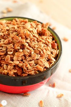 Rezept für Knusper Basis Mandel Müsli / recipe for crunchy almond granola (Breakfast Recipes Quiche)