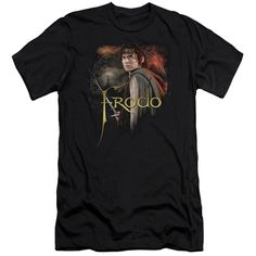 Lord Of The Rings Frodo Adult Short Sleeve S/S 30/1 T-Shirt - Black. He's the hero of Middle Earth, the one who overcame tremendous hardship and dismal odds to rid the world of the Ring of Power. Because he succeeded, the Fourth Age will be one of freedom rather than darkness. On this LOTR t-shirt, Frodo stands warily with his trusted sword, Sting,while Mt. Doom and Barad-dur loom ominously in the distance. Now you can show your admiration for Frodo's courage and strength every time you…