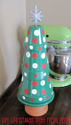 DIY Christmas Tree from Pots