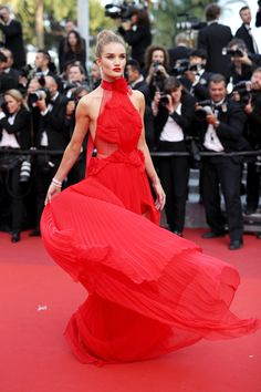 Pin for Later: Every Single Look From the Cannes Film Festival You Just Can't Miss  Behold Rosie Huntington-Whiteley's gorgeous red Alexandre Vauthier gown on The Unknown Girl's red carpet.