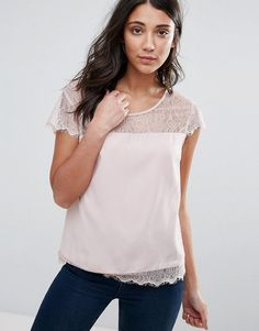 Get this Only's looped blouse now! Click for more details. Worldwide shipping. Only You Lin Lace Insert Blouse - Pink: Top by Only, Sheer lace yoke, Scoop neck, Scalloped edge, Button-keyhole back, Regular fit - true to size, Machine wash, 100% Viscose, Our model wears a UK 8/EU 36/US 4 and is 170cm/5'7 tall. Danish high street brand Only brings forth a casual, feminine collection of classic denim, bold print tees and vests in true Scandinavian style. Expect skinny jeans and jeggings in…