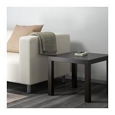 IKEA - LACK, Table d'appoint, noir, , Facile à assemblerLéger donc facile à déplacer.