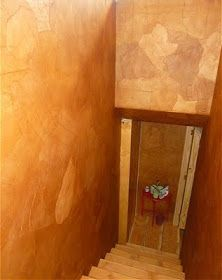 Decorating My Tin Shack: Faux Leather Wall Treatment Paper Bag Walls, Paper Bags, Faux Leather Walls, Stair Well, Diy Wood Wall, Brown Walls, White Walls, Brown Paper, Wall Treatments
