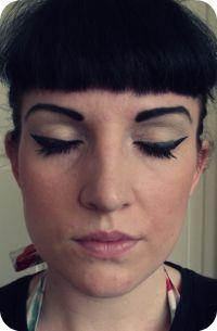 How I apply my Rockabilly Eyeliner and RockalilyLipstick - Alternatively Lovely - Rockalily
