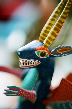 Love traditional Mexican art. So weird yet so colorful.