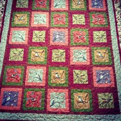 #longarmquilted this fun quilt with a #twine pattern.
