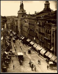 MADRID ANTIGUO CALLE MONTERA 1895 | Flickr: Intercambio de fotos
