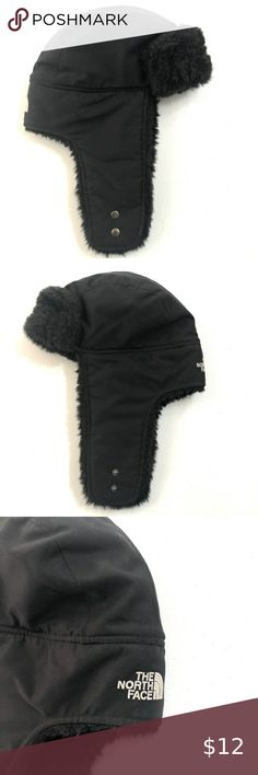Boy/'s Black Skull Face Fleece Cap Gloves Combo NEW Winter Hat Faded Glory Set
