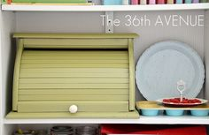 Painted Bread Box Holds Craft Supplies from the 36th Avenue