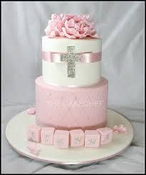 pink baptism cake - Google Search