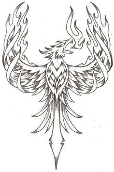 phoenix firebird by thelob traditional art drawings other 2010 2015 .