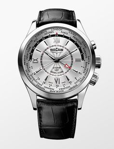 Vulcain White Dial Aviator GMT-Steel http://alwaysfashion.com/tr/p/361/beyaz-kadran-aviator-gmt-steel