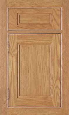 Hancock Recessed door style by #WoodMode, shown in Honey finish on oak.