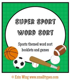 Four staggered-page sorting books focusing on different sorting patterns, three spelling games and blank books and games to customize. Designed to accompany Words Their Way, but works with other word study programs as well. $5