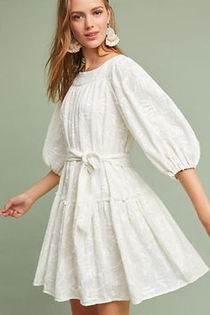 a951cb870a4 Very cute dress from Anthropologie TALANA DRESS by ERI ALI size XL color  Ivory