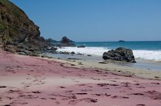 Pfeiffer Beach, Big Sur, United States. The most beautiful beach of Big Sur, Pfeiffer Beach, has a visual theatrically by its purple sands