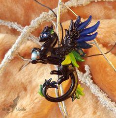 Forest neon dragon necklace by AlviaAlcedo.deviantart.com on @deviantART