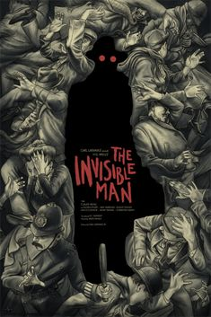 """""""The Invisible Man,"""" by Jonathan Burton. Cool New Mondo Posters for Classic Universal Monster Movies – Page 6 – Flavorwire Gravure Illustration, Book Illustration, Illustrations, Book Cover Art, Book Cover Design, Book Covers, We All Mad Here, Plakat Design, Buch Design"""