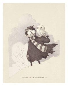 I should draw owls like that.