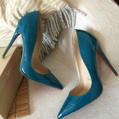 the latest a243c a68d8 Venta al por mayor zapatos azules de pavo real en venta marca partido  atractivos del alto talón zapatos de charol bombas 12 cm   10 cm tacones de  aguja