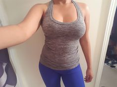 If you are in need of a new yoga or workout tank, this is it! Love the color and the fit - but order a size up :) Great to git that sweat on!  https://www.amazon.com/gp/product/B01EAMWOMK/ref=oh_aui_detailpage_o08_s00?ie=UTF8&psc=1