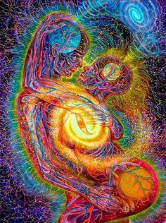 Alex Grey shared by Karla on We Heart It Psychedelic Art, Alex Gray Art, Art Visionnaire, Romantic Nature, Sacred Geometry Tattoo, Vladimir Kush, Wow Art, Visionary Art, Sacred Art