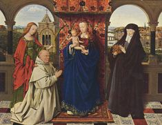 Jan van Eyck and Workshop. Virgin and Child, with Saints and Donor, c. 1440-41. Oil on panel. The Frick Collection, New York.
