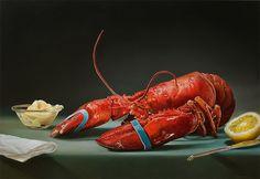hyperrealistic paintings of food by Tjalf Sparnaay